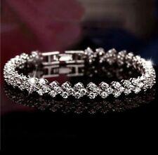 Sterling Silver And CZ Women's Bracelet