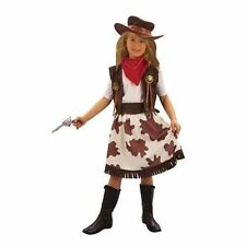 COWGIRL GIRLS HALLOWEEN FANCY COSTUME COW GIRL FREE REDUCED AGES 3-4 5-7 8-10