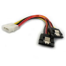 IDE to SATA Power Y Cable 4 pin Molex to 2 x 15 pin SATA Power Adapter Latch