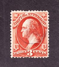 US O17 3c Interior Department Used w/ Star in Circle Cancel