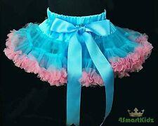 Blue Girl Tulle Pettiskirt Dance Party Skirt Size 2-3
