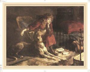 Irish Wolfhound Print, Silent Sympathy