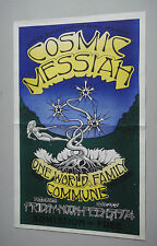 Vintage Theater Poster Cosmic Messiah One World Family Commune 1970s ASUCD UCD