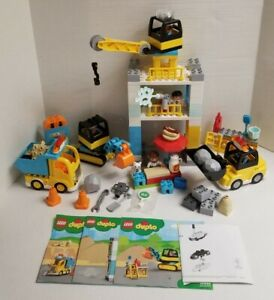 Lego Duplo Town Tower Crane & Construction 10933 - Complete + Instructions