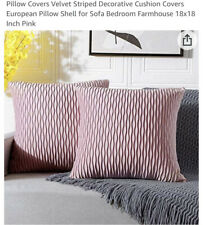 Pack of 4 Velvet Throw Pillows Sofa Decorative Pink Pillow Covers 18X18