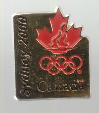 2000 Canada Sydney Olympic NOC Pin Maple Leaf Rings Gold Color