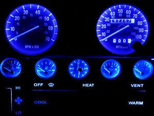 Blue LED Speedometer Gauge Cluster Dash Interior LED Kit for Jeep YJ Wrangler