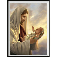 DIY 5D Full Diamond Painting Embroidery Cross Craft Stitch Kit Home Decor Jesus