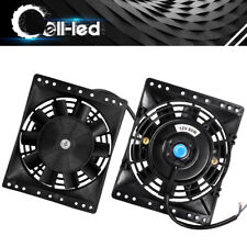"2x 6"" inch Universal Slim Fan Push Pull Electric Radiator Cooling 12V Mount Kit"