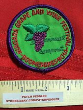 Vtg. NEW YORK PATCH NY ~ NIAGARA GRAPE WINE FESTIVAL NCHA BOOMERANG 5OA2 ex