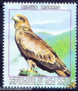 Mali 1999 MNH, Birds of Prey, Black kite