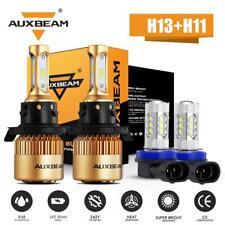For Jeep Renegade 2015-2018 AUXBEAM H13+H11 H8 LED Headlight Hi-Lo Beam Fog Bulb