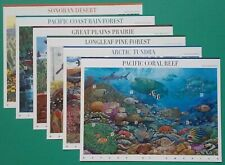 Sheet #1 To # 6 of NATURE OF AMERICA Sheets US Postage Stamps. Sc # 3293 - 4474