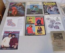 Vintage Lot of 8 Knitting  Pattern Magazines Leaflets 1940s - 1990s