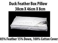 Luxe plume de canard boîte oreiller 85% plumes et 15% duvet avec 100% housse en coton