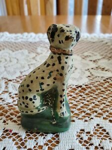 English pottery Dalmatian dog / 18th century rare hard to find
