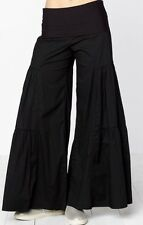 XCVI Fold Over Side Tier Palazzo Pants Black - NWT Size S