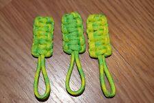 paracord zipper pull - dayglow, neon yellow, neon green