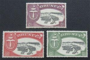 nystamps British Brunei Stamp # 94-96 MOGH    O22x2276