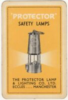 Playing Cards 1 Swap Card Old Vintage PROTECTOR SAFETY LAMPS AD Mining Railway