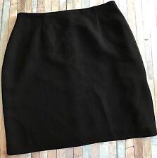 INC Women's Sz 12 Skirt Black Straight Mini Side Slit Career Lined Suit