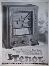 ADS 1935 RADIO TSF TÉNOR SUPER TABLE PICK-UP - PUBLICITÉ DE PRESSE FRENCH
