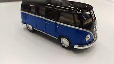 Volkswagen Classiche Bus 1962 Blu Nero Kinsmart Modello 1/32 Scala