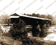 Horseshoe Bend Bridge Dadeville, Alabama 1912 8x10 Sepia Photo FREE SHIPPING!