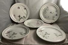 Set of 5 Portmeirion THE QUEEN'S HIDDEN GARDEN Dinner Plates