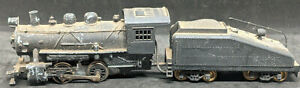 MANTUA HO 0-4-0 DIE-CAST STEAM LOCOMOTIVE & COAL TENDER For Repair Vintage