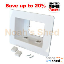 Recessed Power Point Wall Box Plate GPO TV LCD LED + 2 AV Clipsal Style Inserts