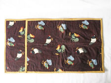 Roosters/Chickens All Over Fabric -Set of 2 Placemats-Handmade Pizazz Creations