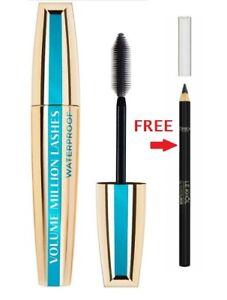 LOREAL Volume Million Lashes Waterproof Mascara Black +Free Le Khol Eyeliner