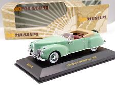 Ixo MUS017 1/43 1939 Lincoln Continental Diecast Model Car