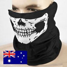 New Skull Neck Warmer Biker Motorbike Face Mask Gator Black Skeleton Breathable