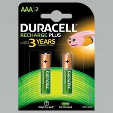 2 x Duracell AAA 750 mAh Rechargeable Batteries NiMH ACCU LR03 HR03 DC2400 Phone