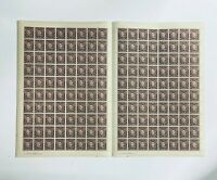 AFS39) Australia 1941 KGVI 3d Brown complete sheet of 160, mostly fresh unhinged
