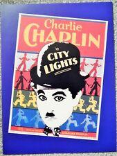 City Lights (Video Dealer Deluxe 12X9 Lg Brochure 1990S) Charlie Chaplin Classi