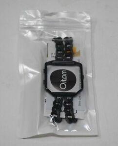 Fitbit Blaze Black Band Lg/sm Oitom Frame Housing Stainless steel Bracelet new