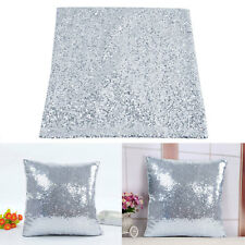 Glitter Silber Farbe Kissen Sequin Cover Sofa Taille Throw Kissen Case Decal