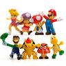 8pcs/Set Super Mario Bros Luigi ABS  Figures Figurine Model Kids Toy 2-5cm