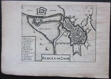1703 BERGEN OP ZOOM map Mortier Noord-Brabant Nederland Netherlands