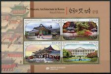 South Korea Architecture Stamps 2020 MNH Royal Palaces Trees Landscapes 4v M/S