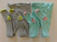 Baby Boden Girls 2-3Y Warm Winter Knit Tights Gray Mint Stockings Lot Toes Heels