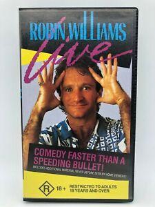 Robin Williams Live R18+ 1986 Vintage Comedy - VHS - CEL - Free Post