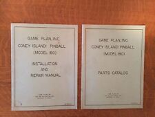 1979 Game Plan Inc., Coney Island! Pinball Manual Set.