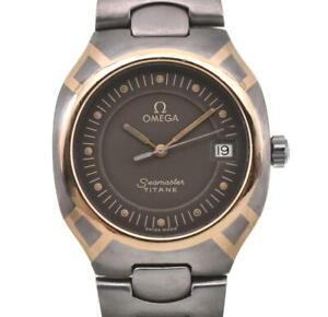 OMEGA Seamaster Polaris K18/Titanium gray Dial Quartz Men's Watch E#102241