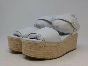 Franco Sarto Women's White Wedge Sandal 8 US