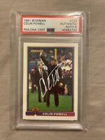 1991 Bowman Colin Powell #533 Autographed Authentic PSA 8
