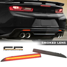 FOR 16-19 Camaro 13-17 Traverse Smoke Lens Rear Bumper Reflector LED Lamp Light